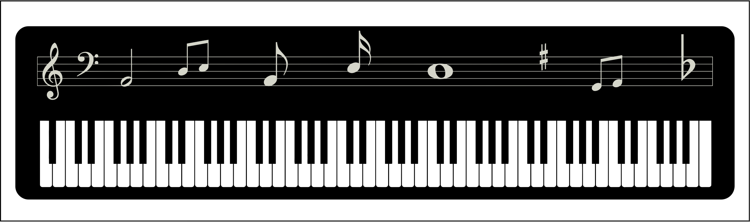 clip art black and white library Free keys cliparts download. Clipart piano keyboard