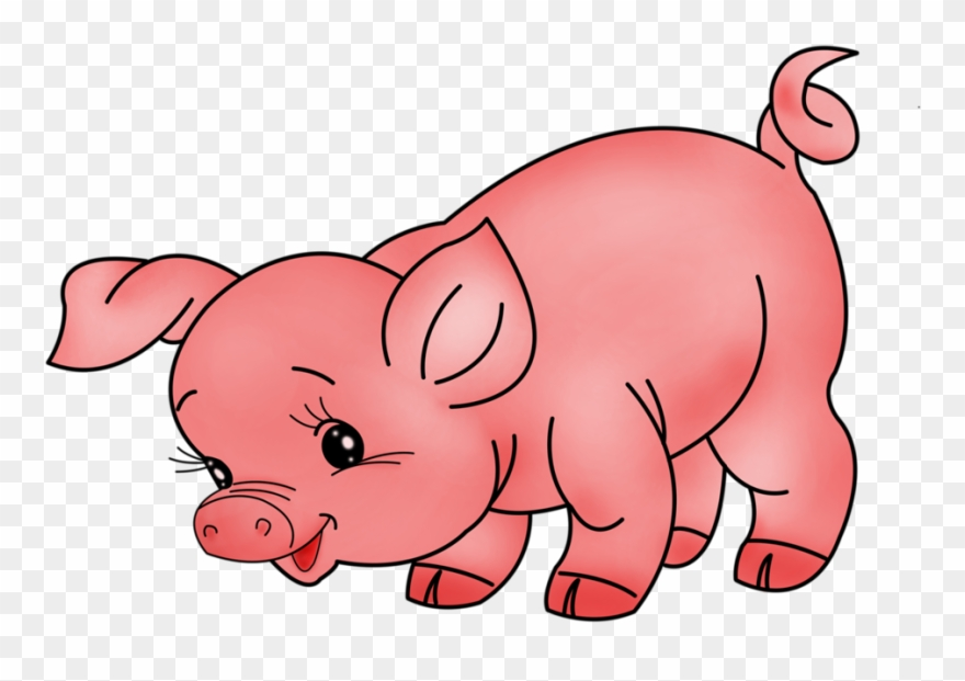 graphic freeuse Pig domestic farm animals. Animal picture clipart