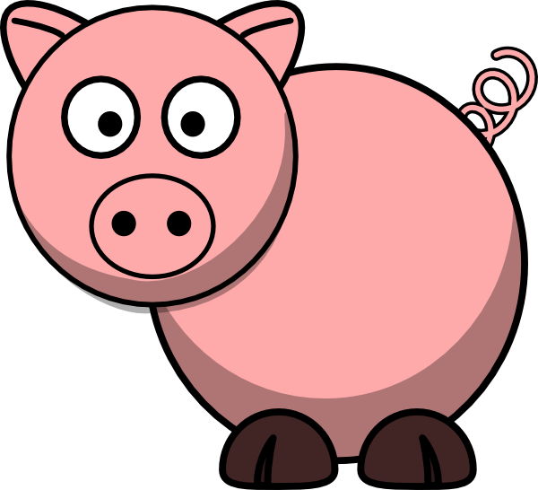 clip art freeuse stock . Cartoon pig clipart.