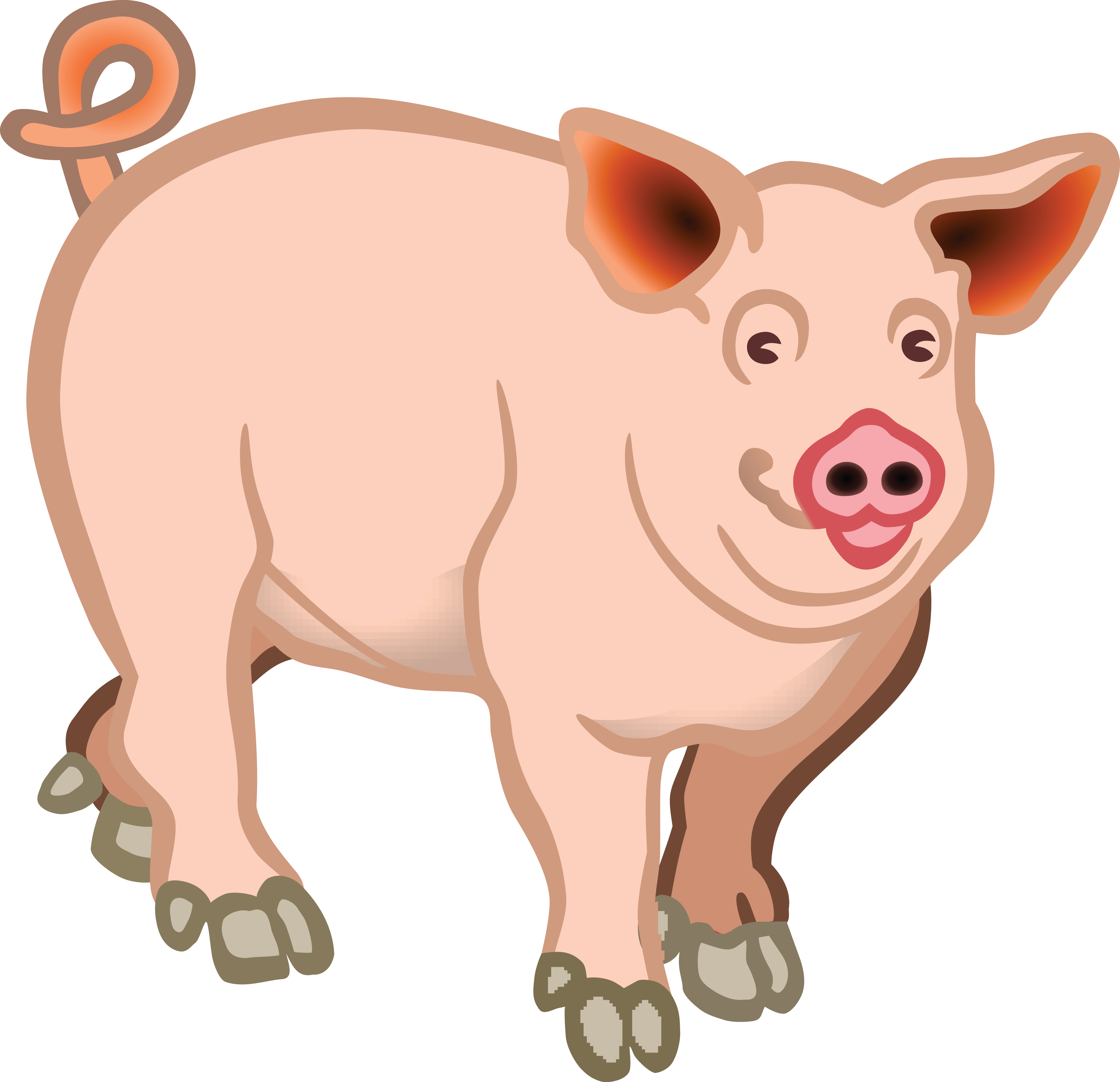 banner freeuse download Pig px svg of. Pigs clipart.