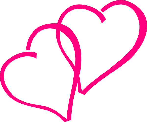 clipart library library Hot pink hearts clip. Heart clipart free black and white