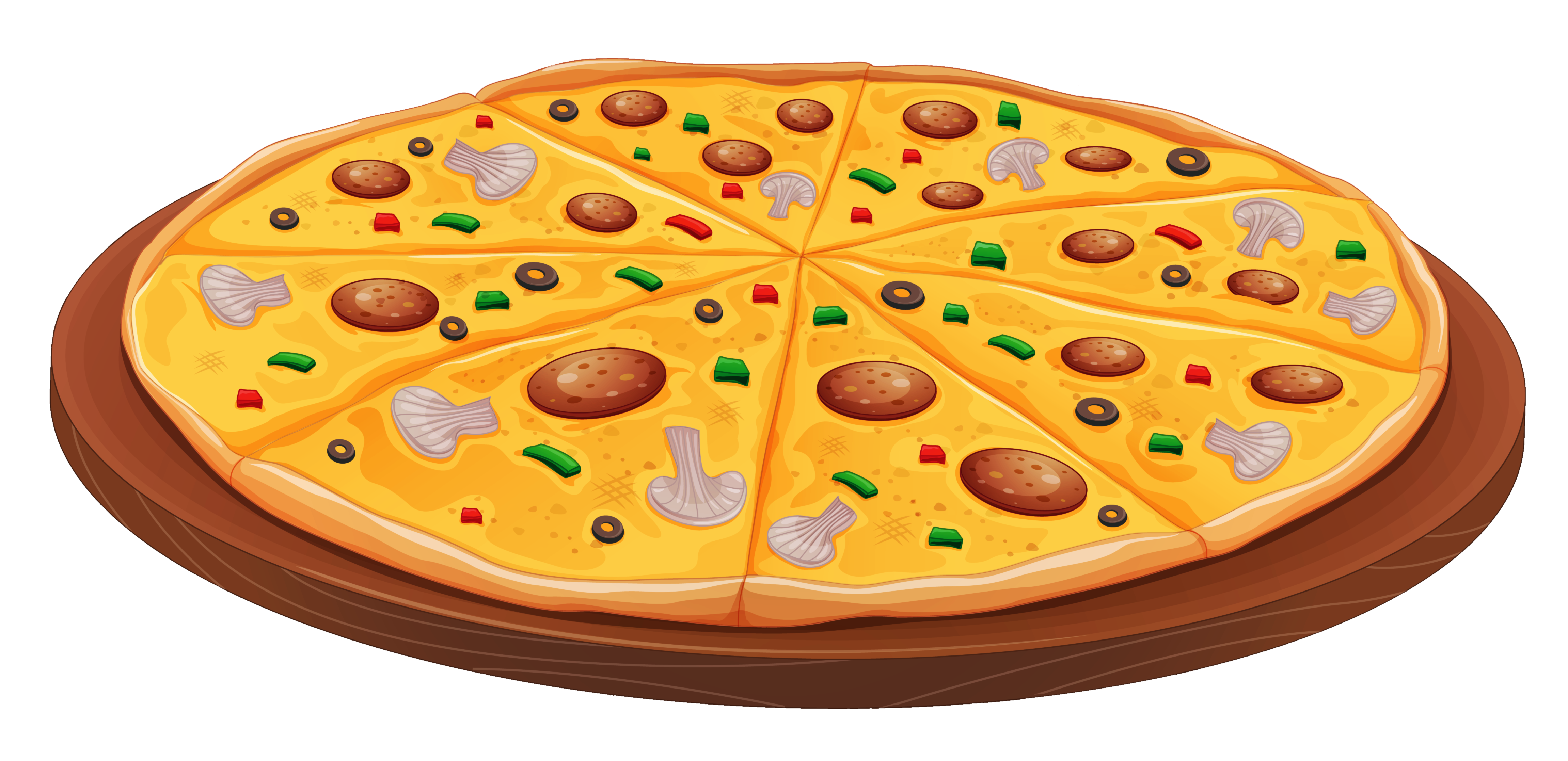png library download Pizza with Mushrooms PNG Clipart