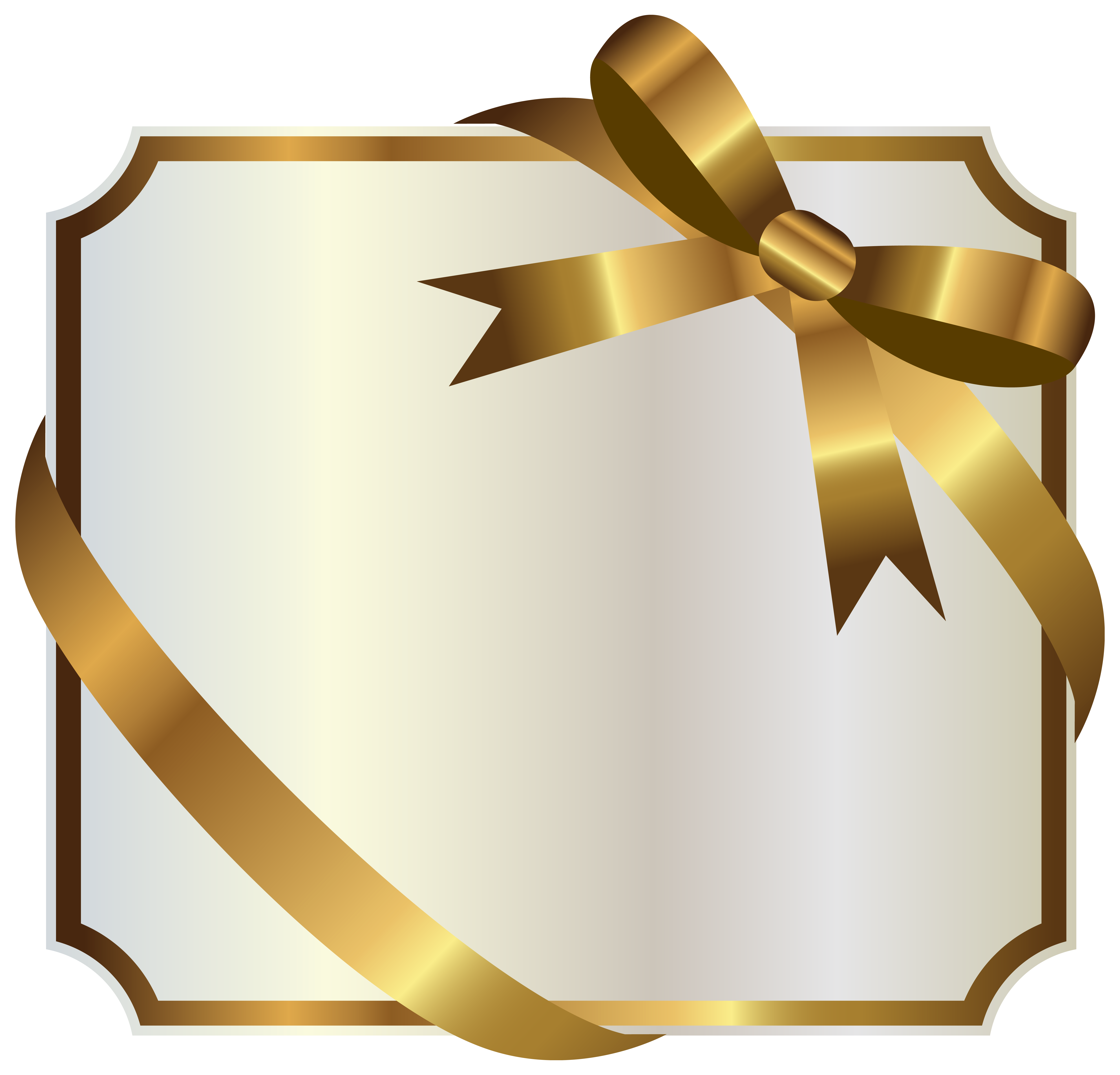 graphic black and white download With gold bow png. White label clipart