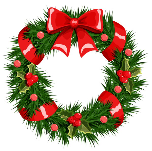 clip library download Holiday wreath clipart. Transparent christmas png printibles