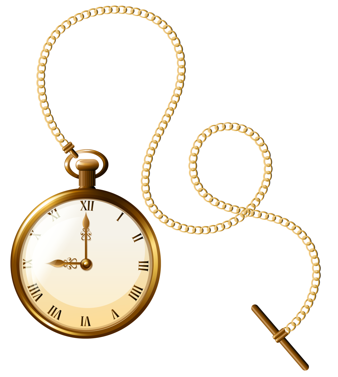 banner transparent stock Gold Pocket Watch Clock PNG Clip Art