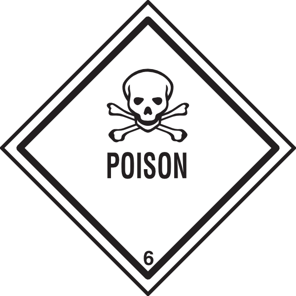picture black and white download Poison Warning Clip Art at Clker