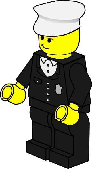 image freeuse Lego Town Policeman Clip Art at Clker