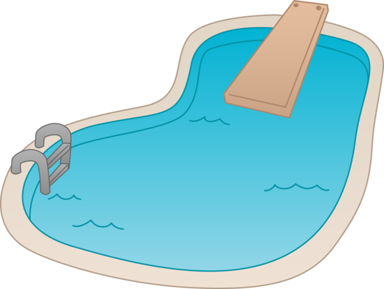 banner transparent Swiming Pool Clipart