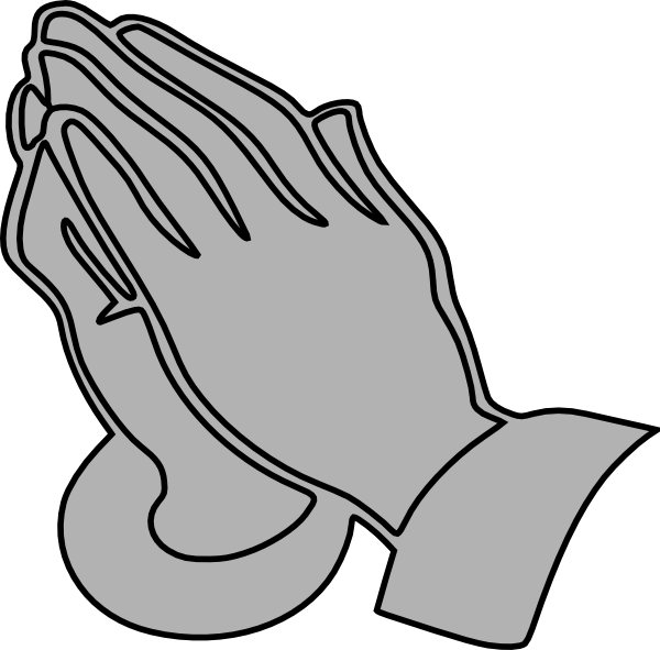 png free library Gray Praying Hands Clip Art at Clker