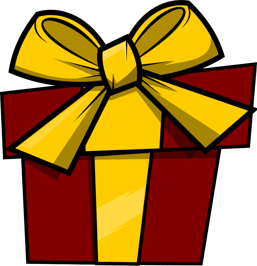 clipart transparent library Free gift cliparts download. Presents clipart.
