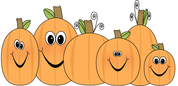 png black and white library Cute Pumpkin Clip Art