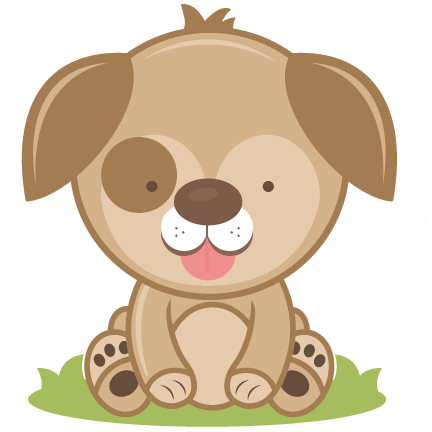 clipart free stock Puppy svg cutting file. Brown clipart doggie
