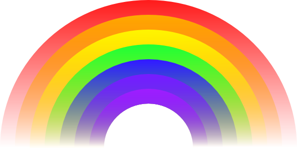 freeuse stock Rainbow Clip Art