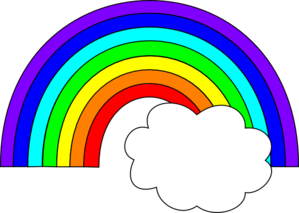 graphic freeuse Rainbow clipart. Outline panda free images