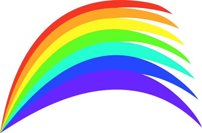 clipart library download Free rainbow clipart animated. Vector color painting