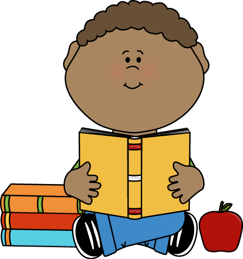 png free Boy reading clip art. Writer clipart child.