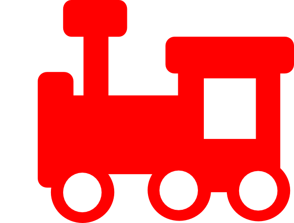 image library stock Red Train Clipart