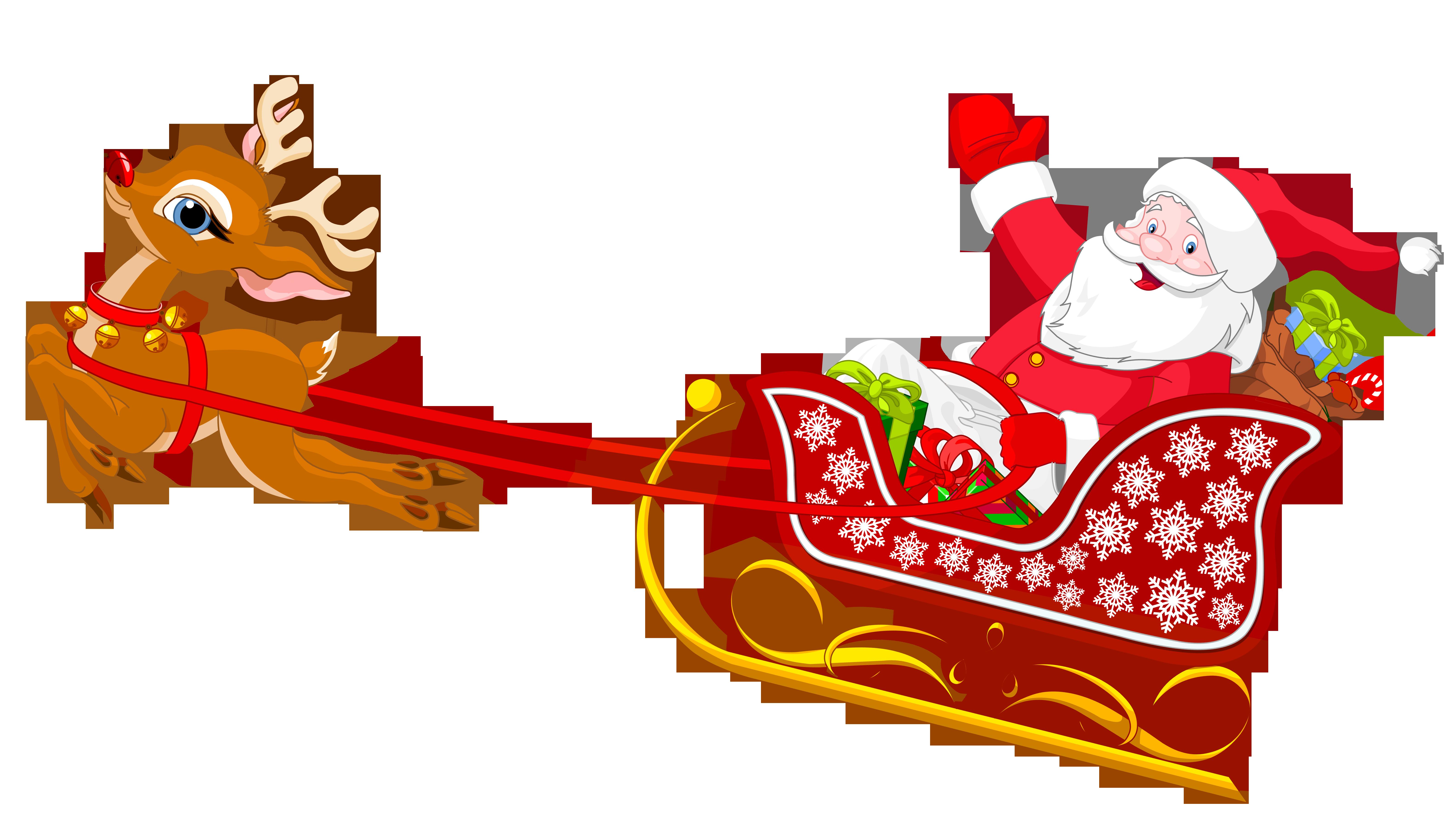 banner library Reindeer Clipart santa reindeer