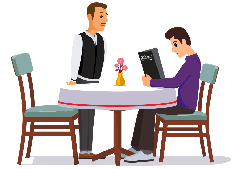 image transparent stock Waiter taking order clipart. How to use ireap