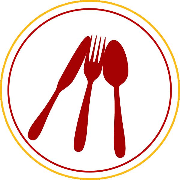 black and white stock Menu clipart restorent. Food utensils icon clip.
