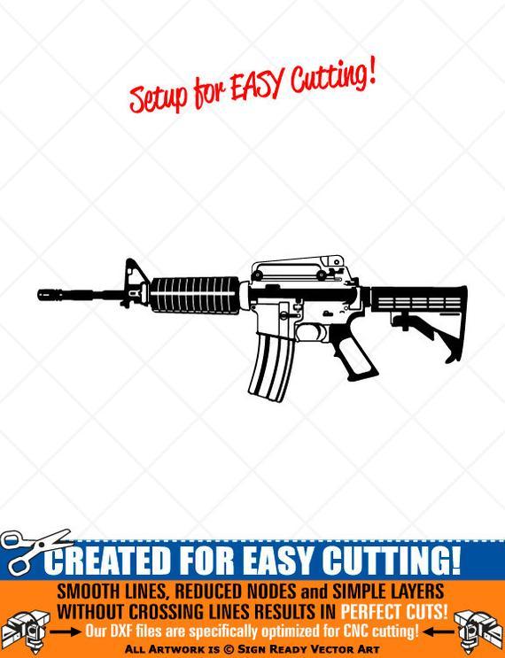 free Detailed m gun clipart. Vector carbine m4 rifle
