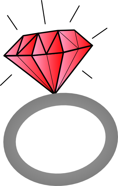 free Red jeweled ring clip. Rings drawing gem