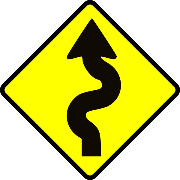 jpg royalty free library Winding Road Clip Art at Clker