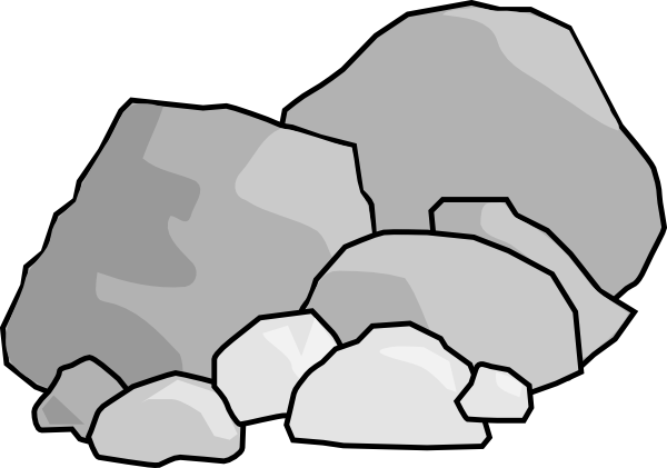 image black and white Rock Clipart
