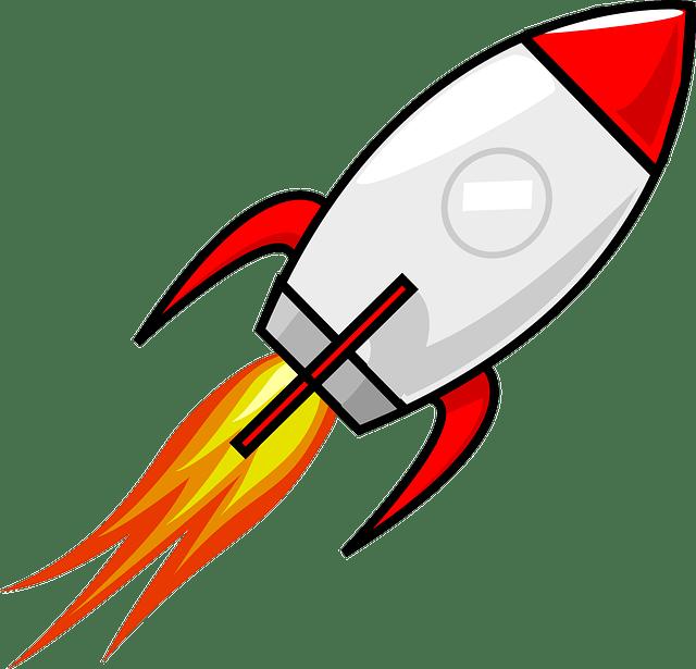 banner download Rocket Clipart transparent PNG