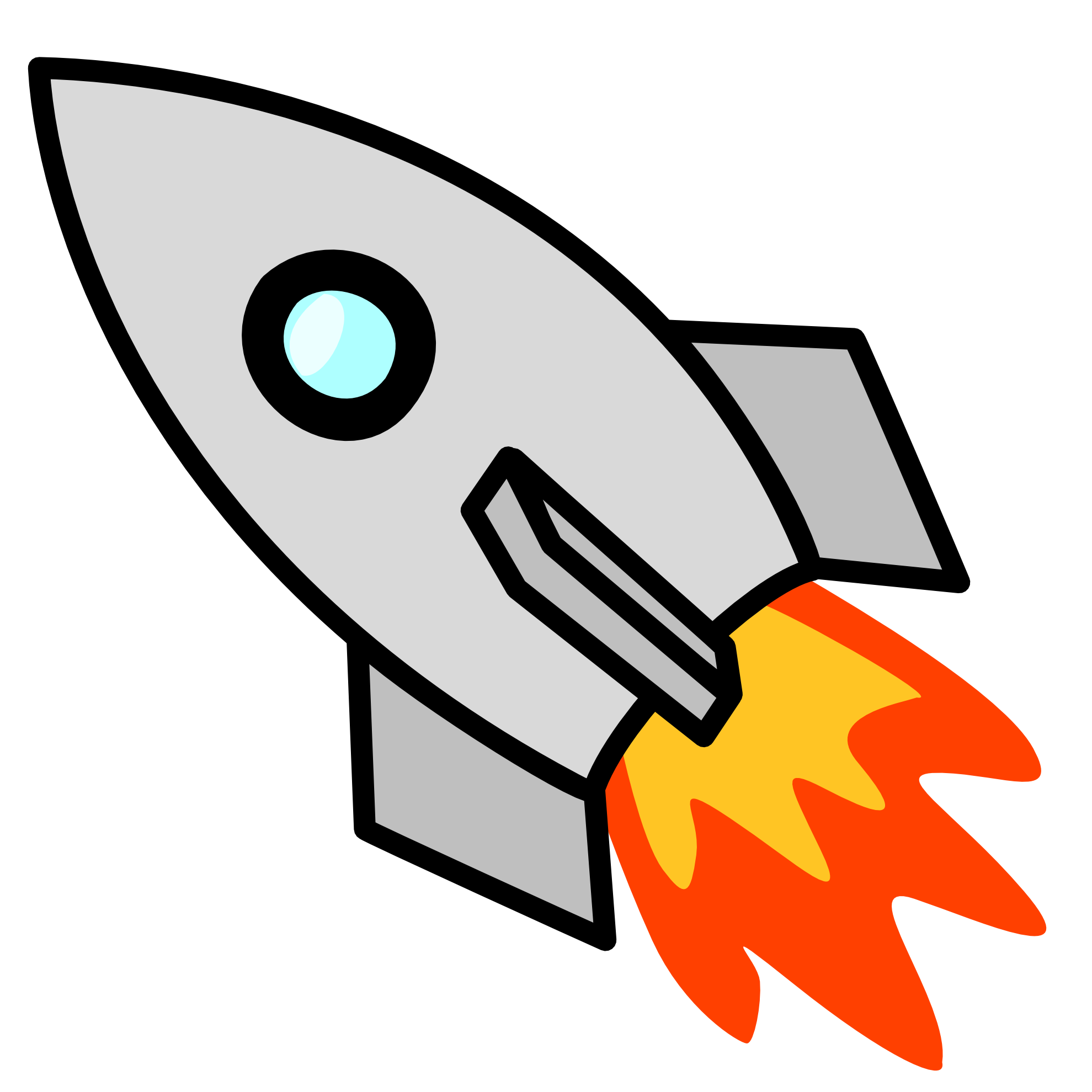 vector royalty free download Rocket clipart black and white free clipart images