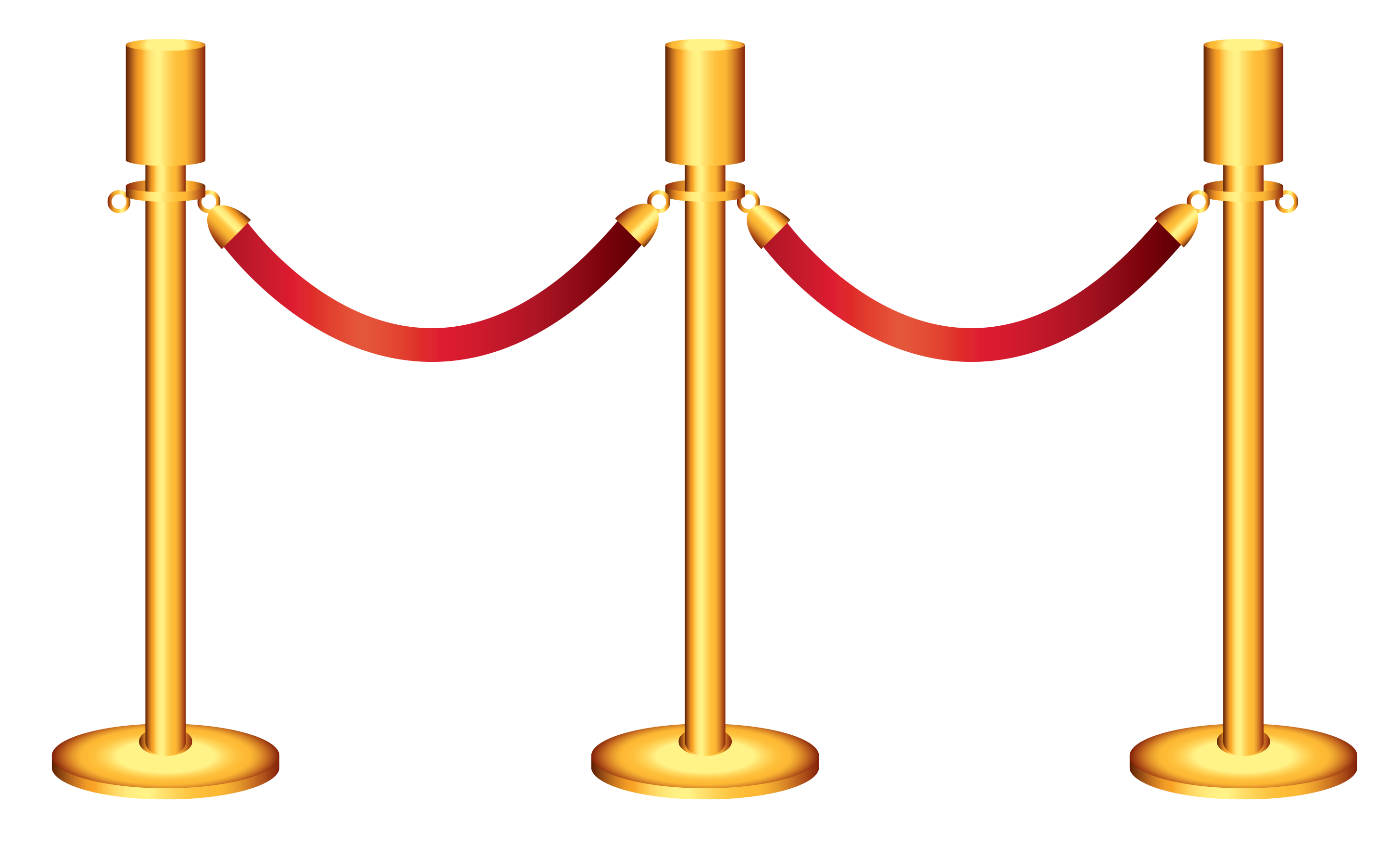 clipart free stock Golden Rope Barricade Transparent PNG Clipart