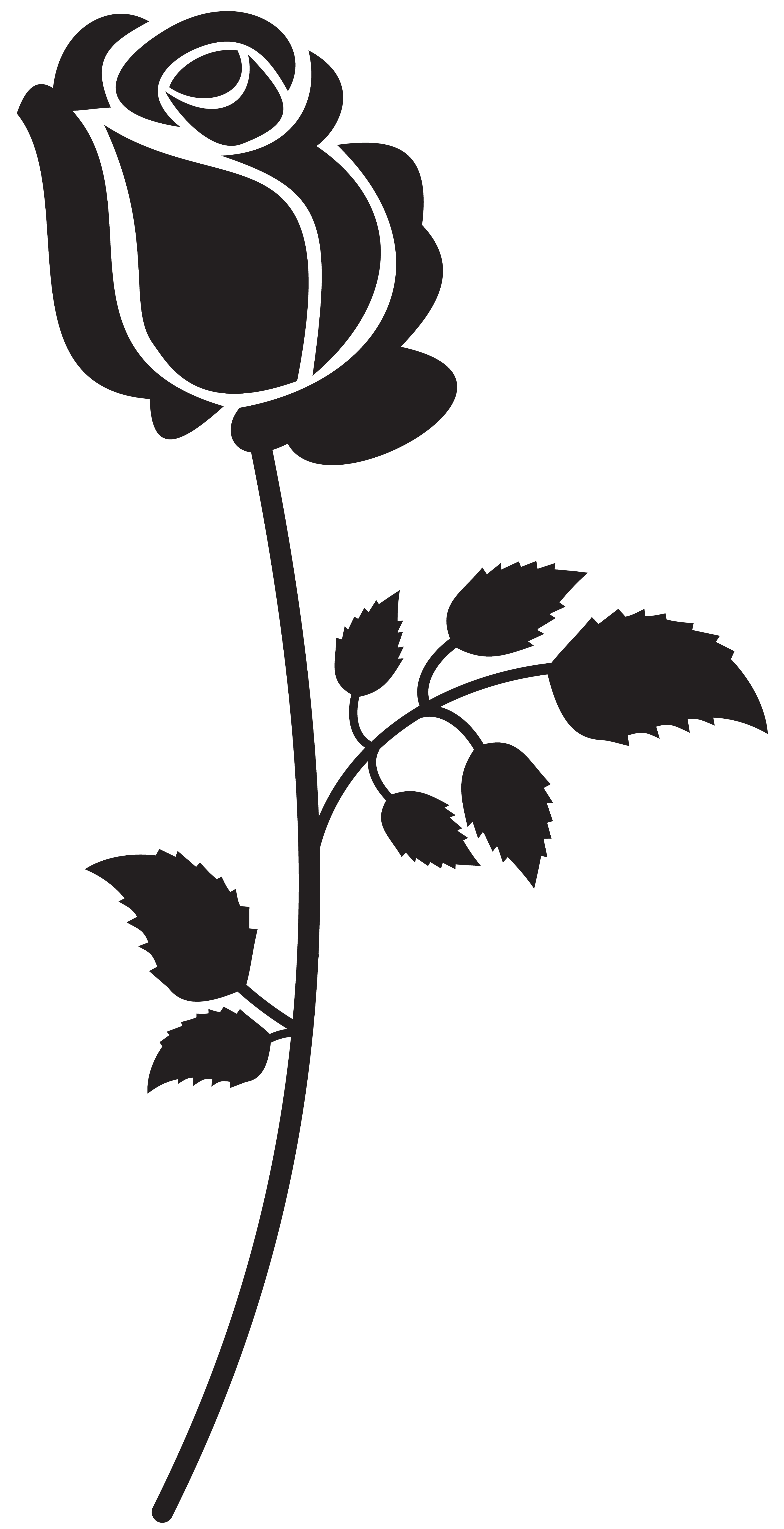 jpg black and white download Rose Silhouette Clip Art at GetDrawings