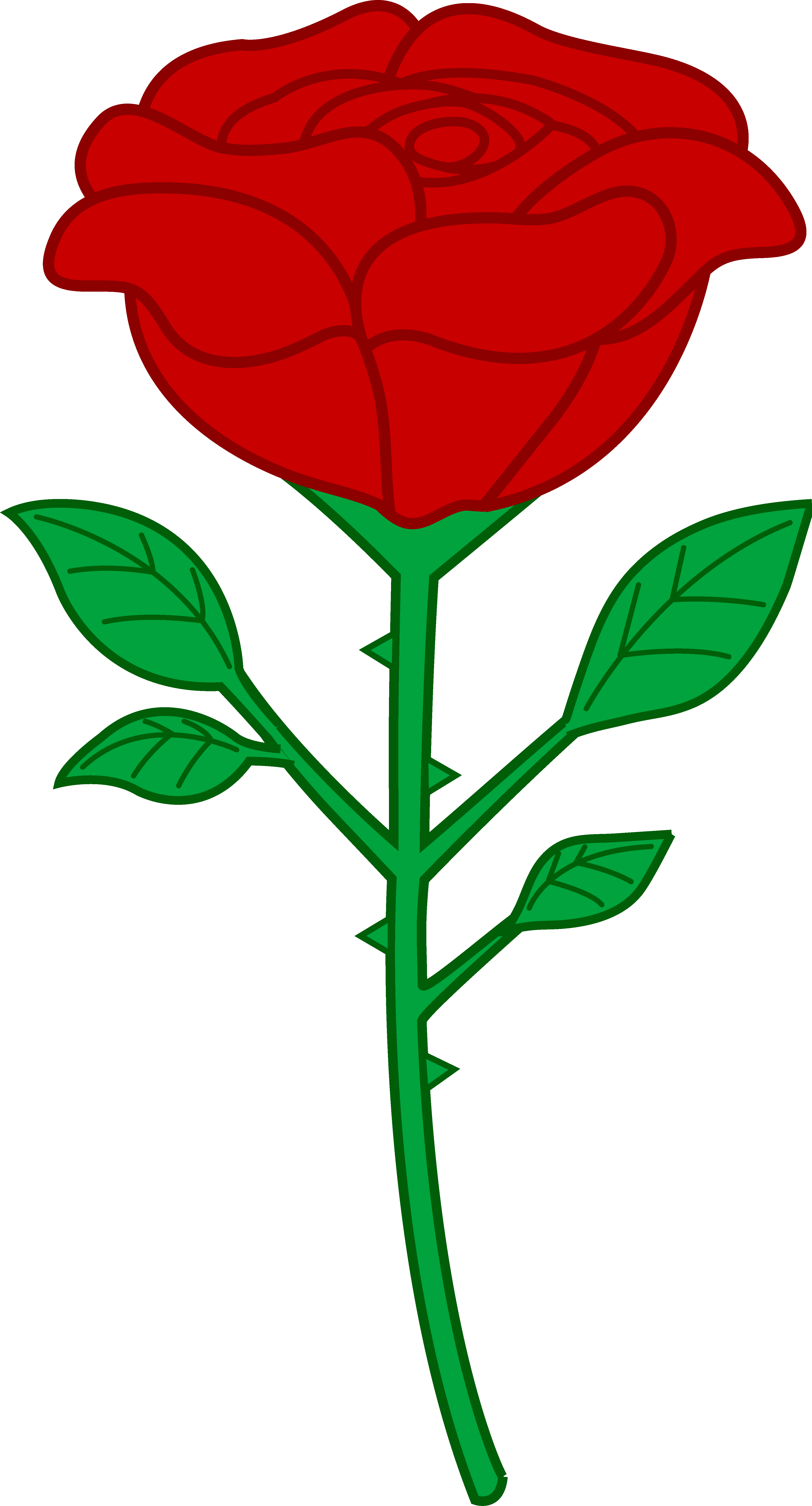 clip art freeuse library Cartoon Roses Clipart