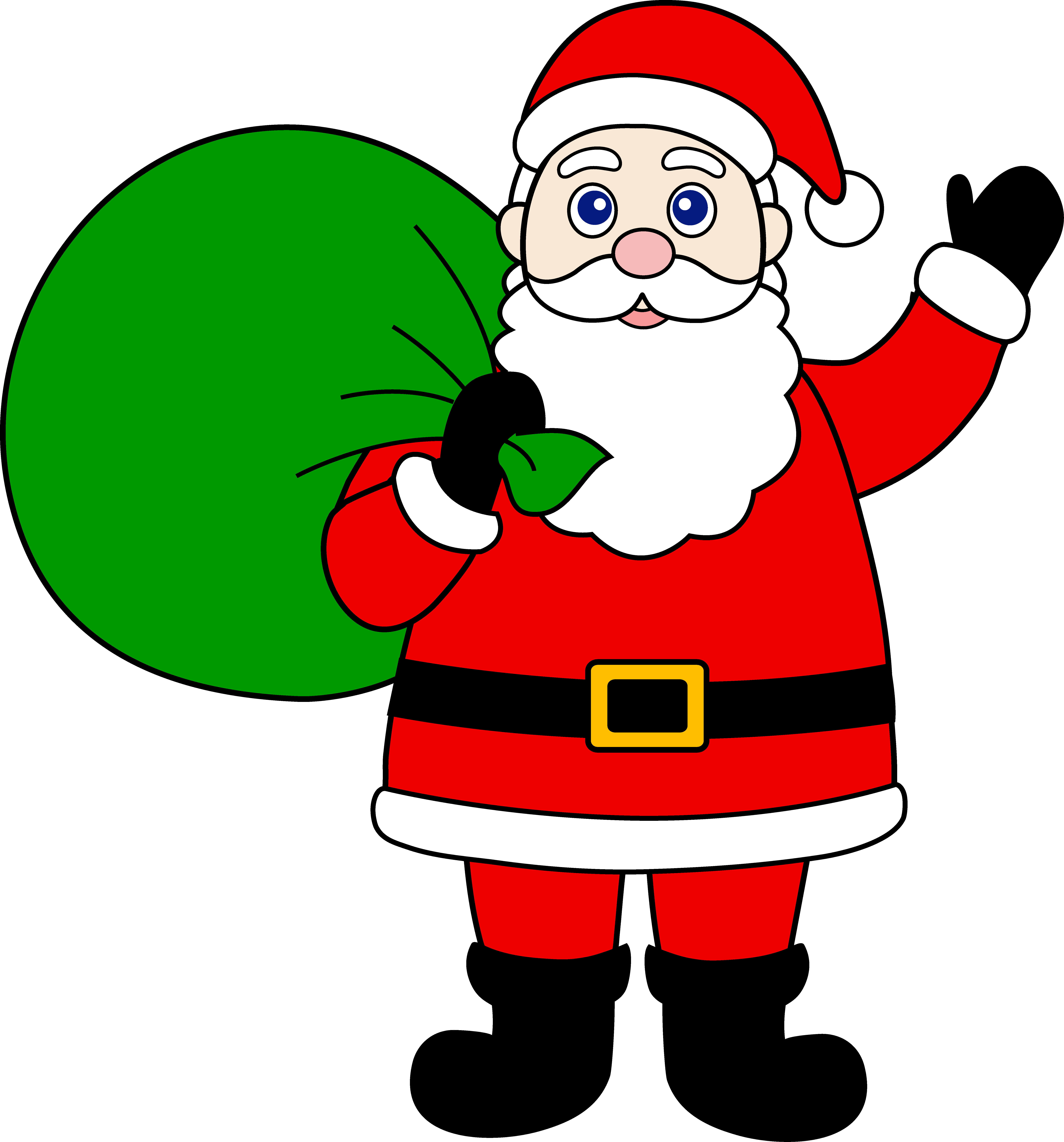 banner transparent stock Santa clipart. Free claus art download.