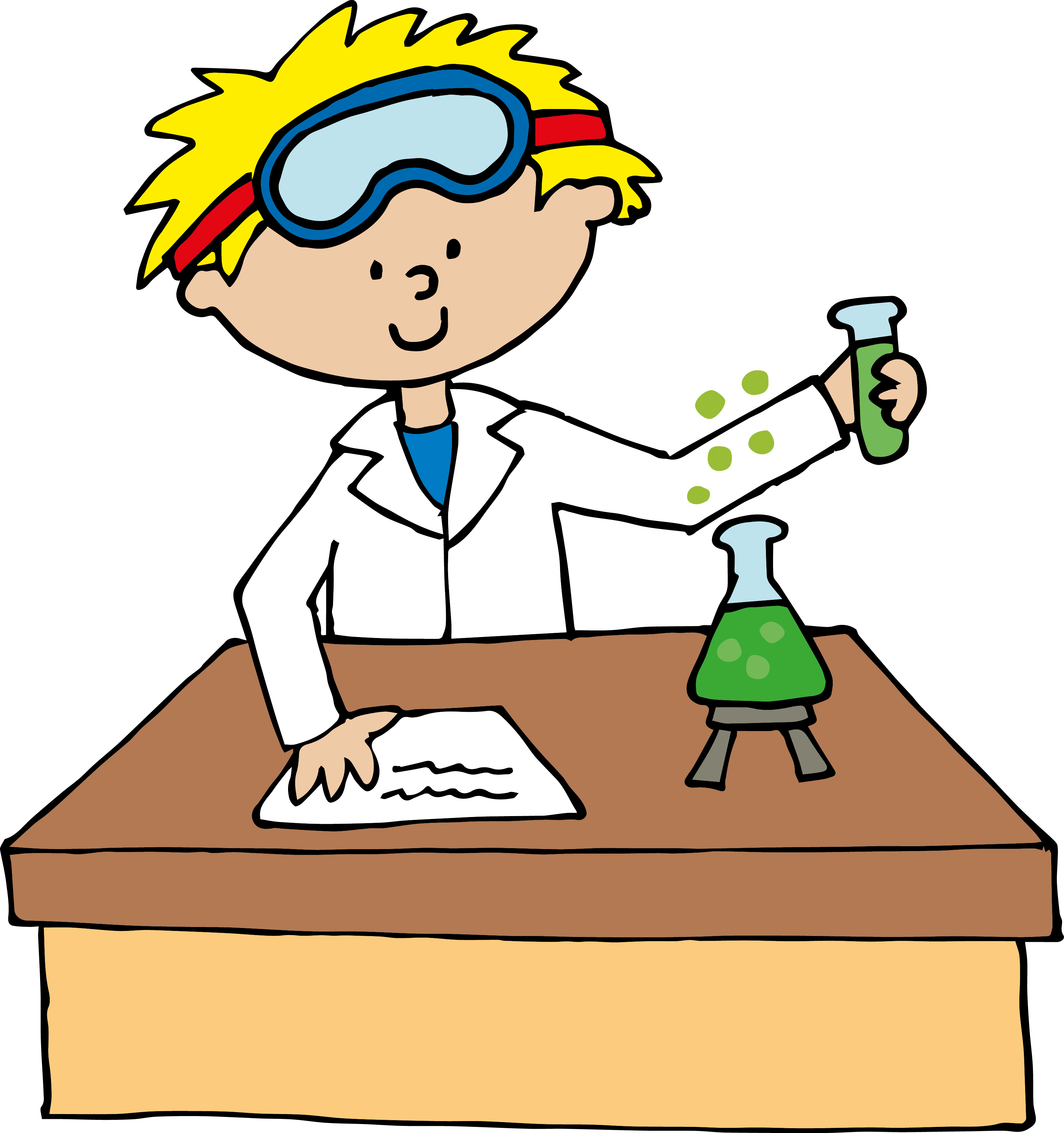 image black and white Lab technician clipart. Science free download best