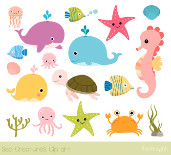 graphic free Sea animal clipart. Animals under the clip