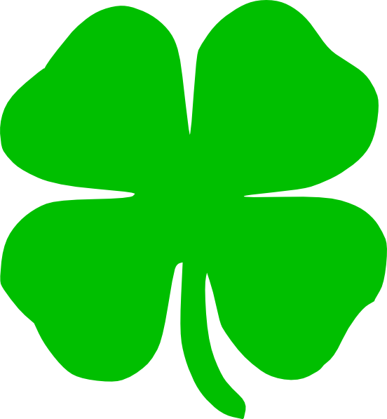 stock Green Shamrock Clipart