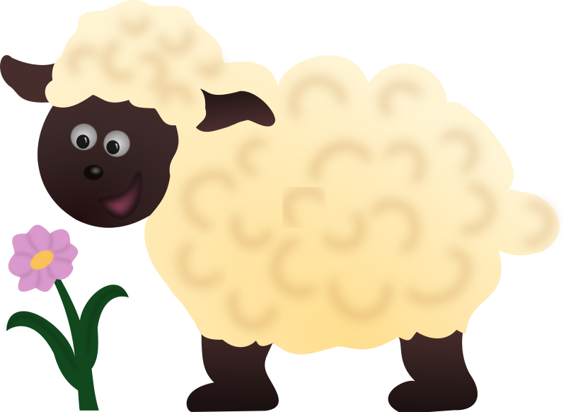banner library Cute free on dumielauxepices. Lamb clipart fluffy sheep.