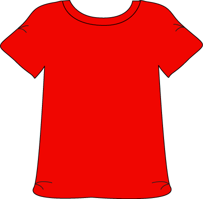 jpg black and white stock red shirt clipart #67013954