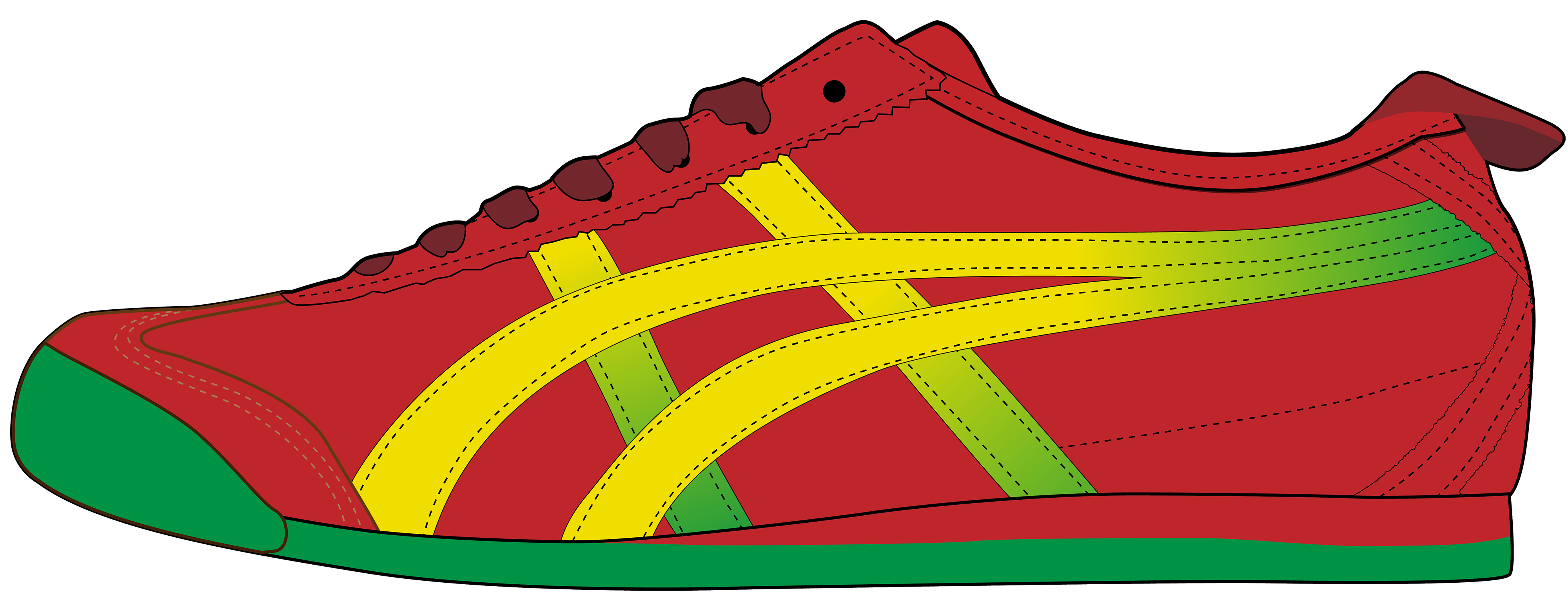 banner library download Red men sport shoe. Shoes clipart