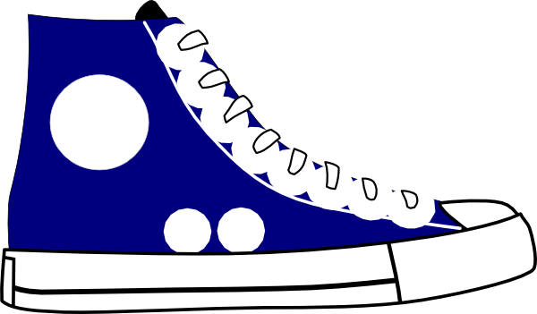 svg freeuse library Cartoon . Tennis shoe clipart