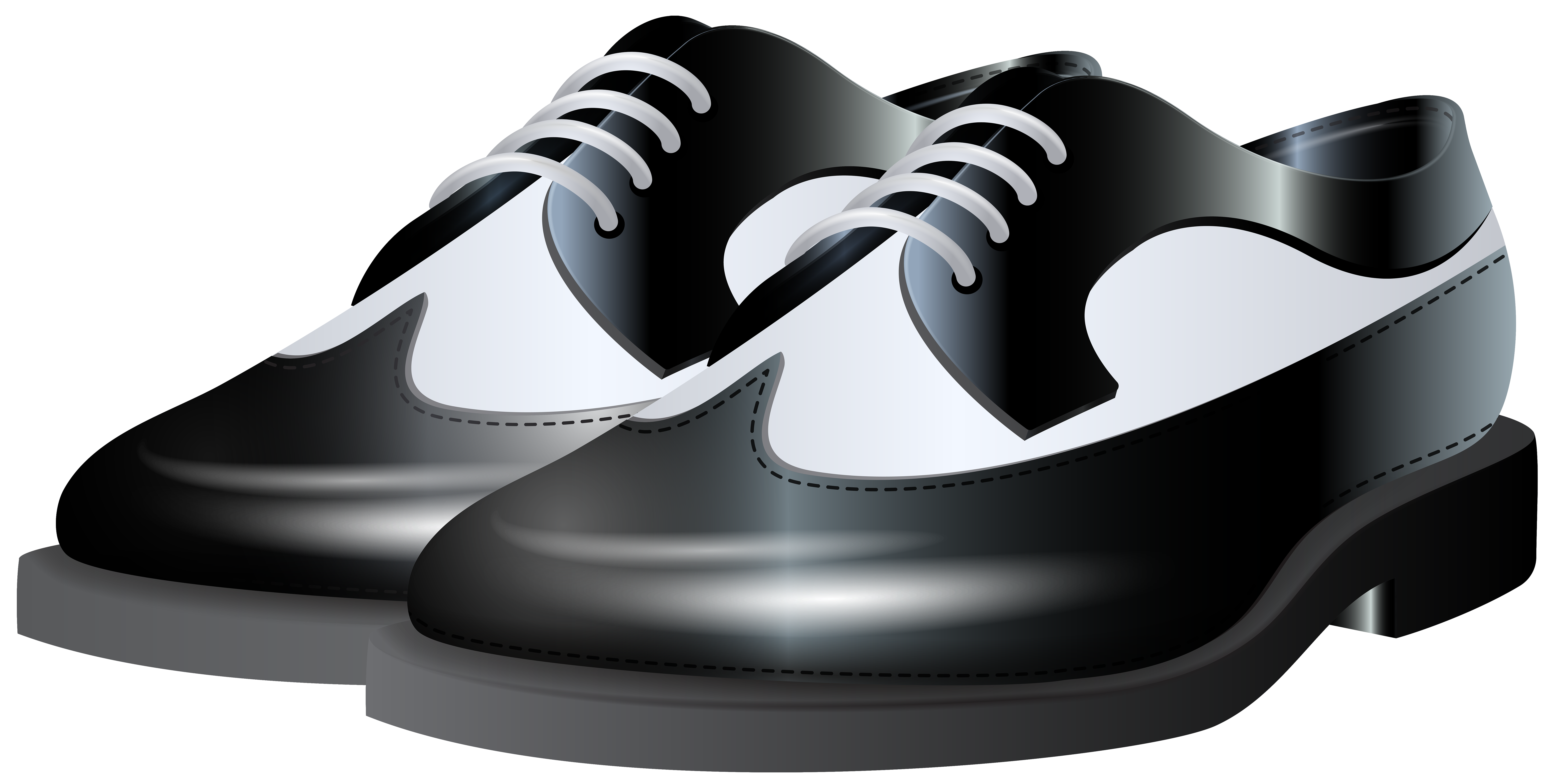vector free library Black and White Shoes NG Clip Art