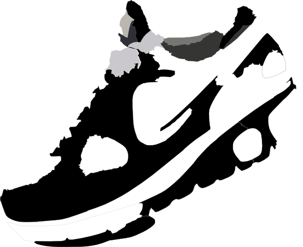 image black and white download running shoe clip art running shoes clipart clipart panda free