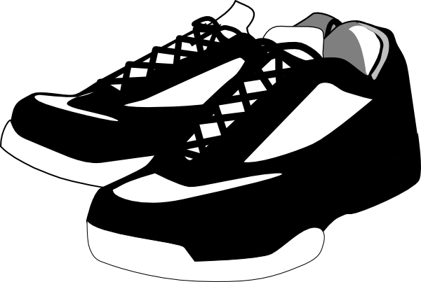 image royalty free download Shoes . Tennis clipart black and white.