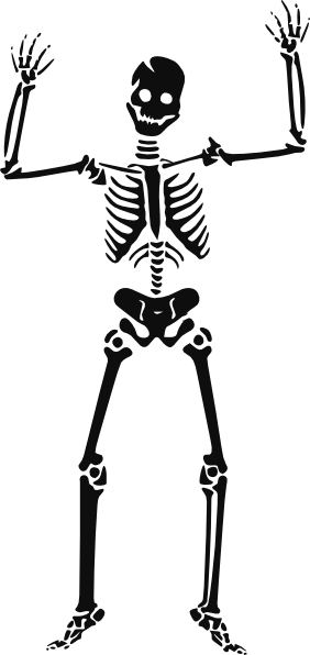 image transparent stock Scary clip art at. Skeleton clipart.