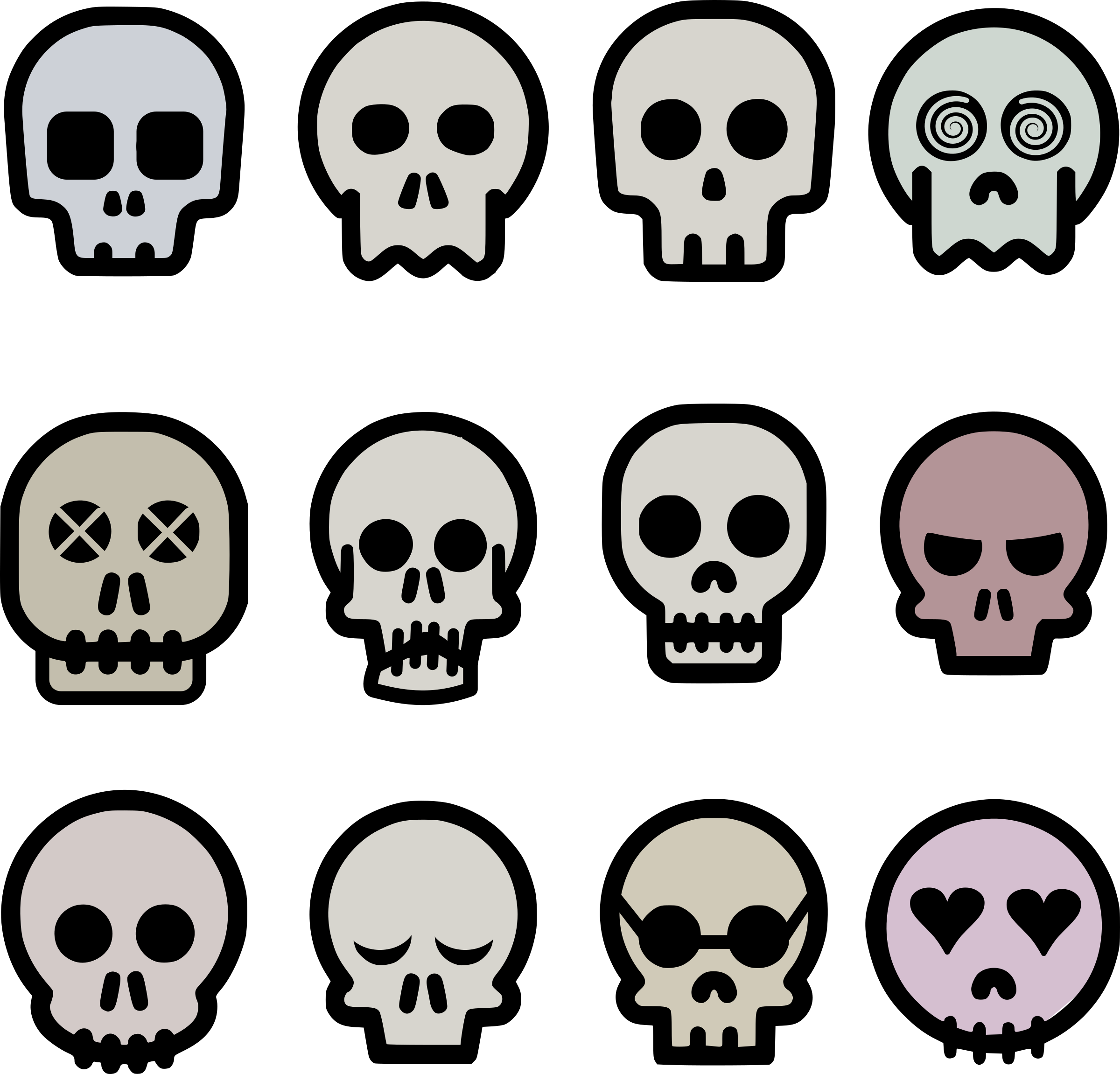 svg library Clipart skull emoji big. Vector emojis minimalist