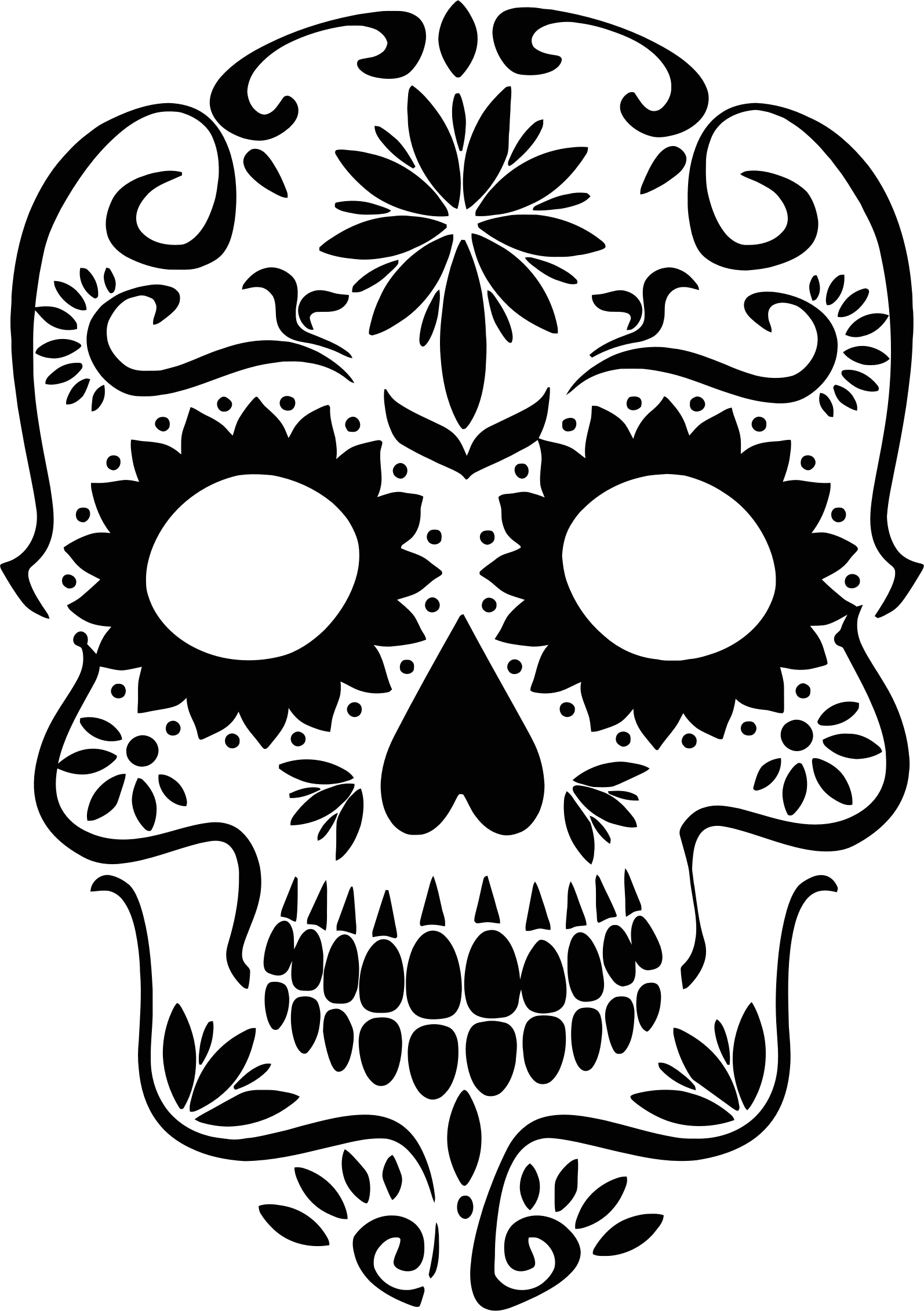 clipart royalty free download Silhouette big image png. Sugar skull clipart