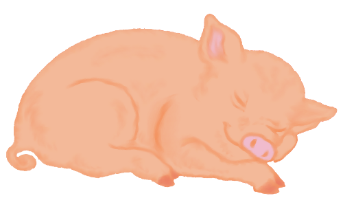 image royalty free download Sleeping Pig Clipart