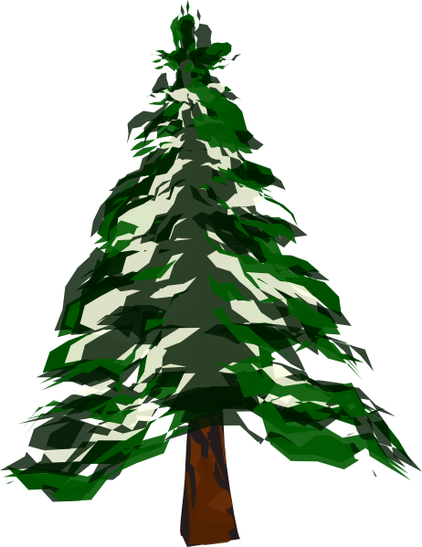 png free Pine tree with snow. Covered clipart