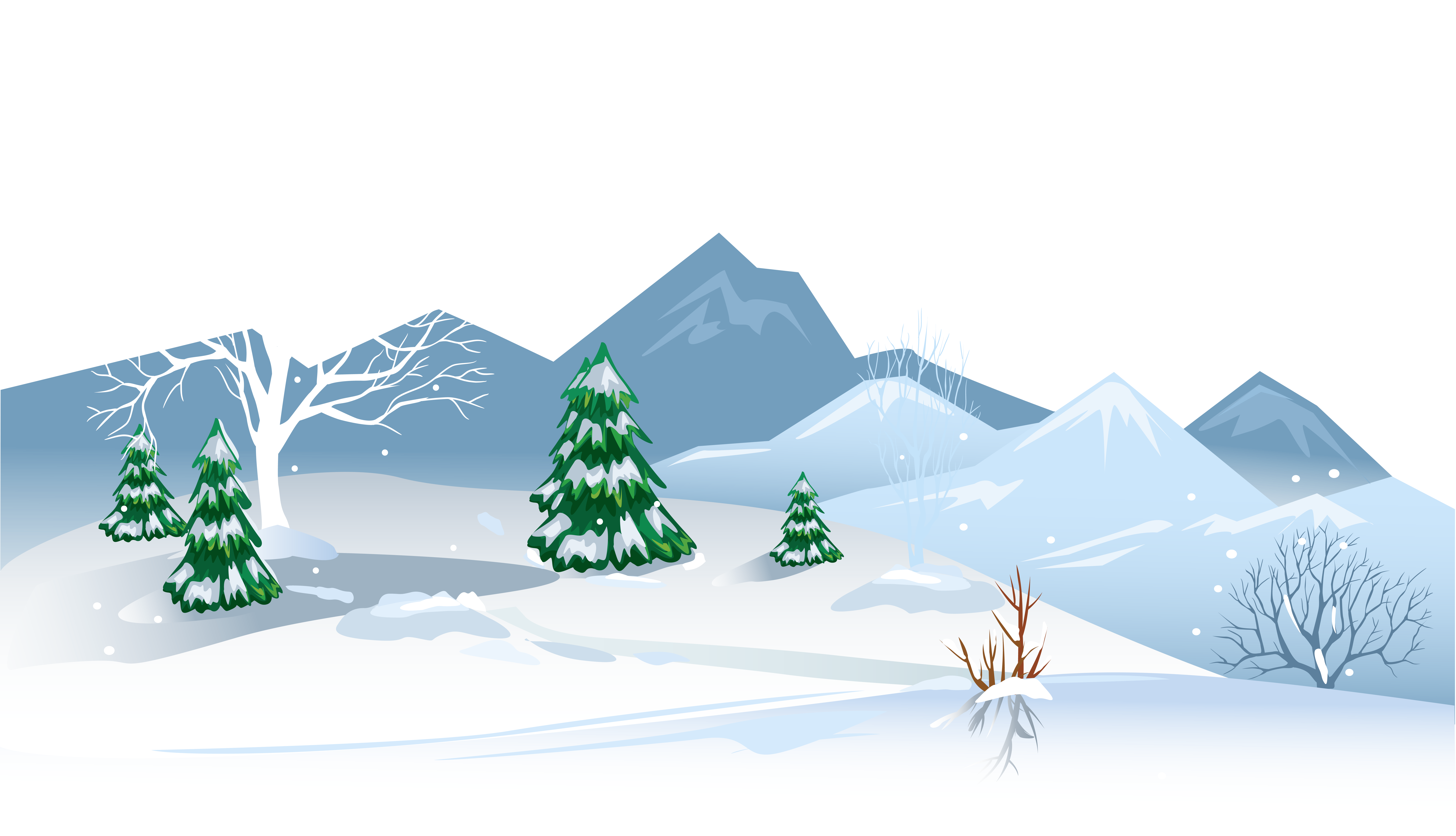 svg royalty free download Winter with snow png. Ground clipart landscape